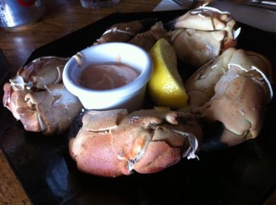 Crab claws... ¡buenísimas!
