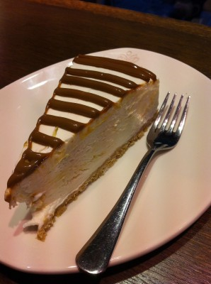 Tarta de toffee and cheese