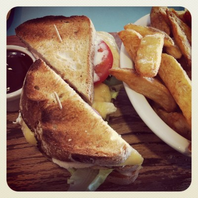 Club sandwich... ¡espectacular!