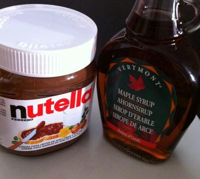 Nutella y sirope de arce... toca elegir (o hacerse uno de cada)